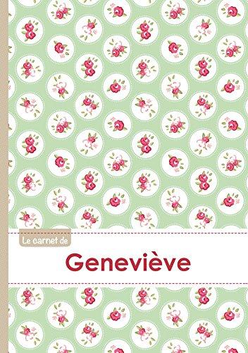 Le carnet de Geneviève - Lignes, 96p, A5 - Roses Tea time