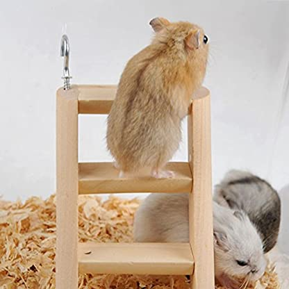 PanDaDa Small Animals Habitat Toy Funny Climbing Ladder Hamster Ladder Stand Wooden Climbing Toy Solid Playing Accessories 8
