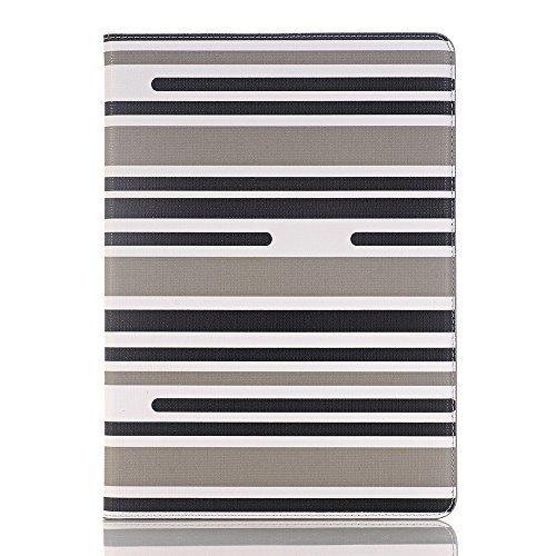 Hülle für iPad air 2, TechCode PU Leder Luxus Bookstyle Folio Etui Abdeckung Stand Magnetic mit Smart Auto Sleep / Wake Feature Schutzhülle für Apple iPad air 2 (iPad air 2, A02) A02