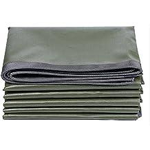 Lonas DUO impermeables de servicio mediano   Cubierta de remolque de tienda de campaña   Lona grande en múltiples tamaños -0.6mm 600g/m² (Color : Army Green+Silver Grey, Tamaño : 6x7m)