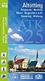 ATK25-N16 Altötting (Amtliche Topographische Karte 1:25000): Burghausen, Neuötting, Marktl, Burgkirchen a.d.Alz, Emmerting, Winhöring (ATK25 Amtliche Topographische Karte 1:25000 Bayern)