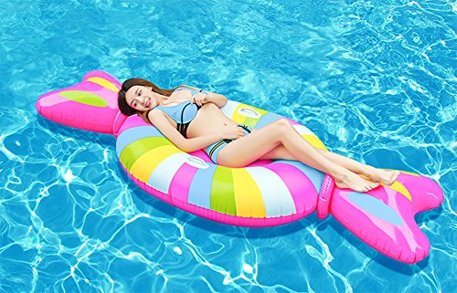 QWHKG PVC Giant Inflatable Floating Bed, Outdoor Swimming Pool, Inflatable Summer Party Leisure Toys for Children and Adults Swim Ring Swimming Float Seat