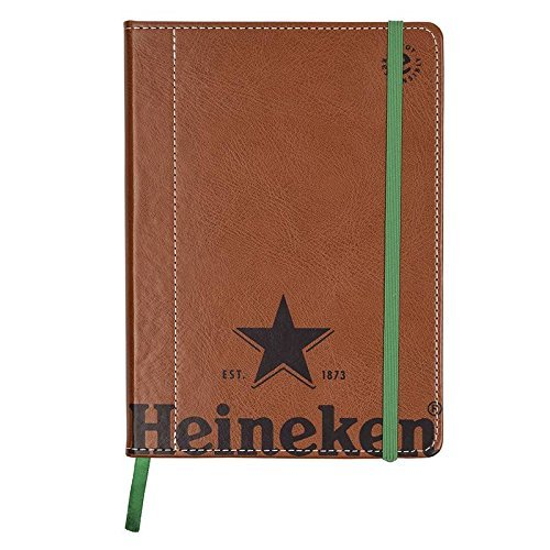 Heineken Notepad Engraved with the Logo of the Five-pointed Star Brown Leather Camel