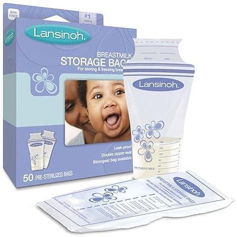 Lansinoh 20435 Breastmilk Storage Bags, 25-Count Boxes (PACK OF 2)