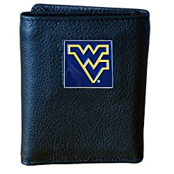 West Virginia Mountaineers Genuine Leather Tri-fold Wallet