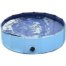 PawHut – Piscina per Cani in Plastica Bordo Stabile per Animali Domestici Blu 80 x 20 cm (ØxH)