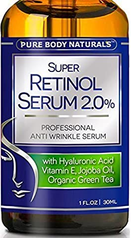 Pure Body Naturals Retinol Serum Anti Aging Anti Wrinkle Serum, 1 Oz (1 Pack)