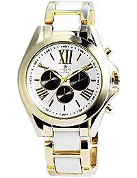 timento–Reloj de pulsera para mujer con correa de metal