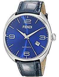 df3c59fea7d5 Fendi Fendimatic Homme 42mm Automatique Bleu Cuir Bracelet Montre F200013031
