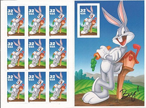 bugs-bunny-sheet-of-ten-32-cent-stamps-scott-3137-by-usps