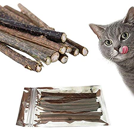 TOMMY LAMBERT 10x Katzenminze Sticks für Katzen Zahnpflege Kausticks aus echtem Matatabi Holz helfen spielerisch bei…