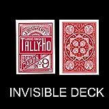 SOLOMAGIA Mazzo Invisibile Tally Ho - Fan Back - dorso Rosso