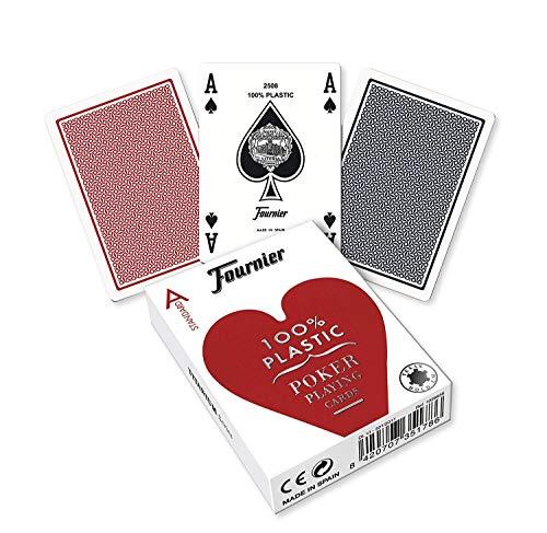 Fournier- Nº 2500 Plástico Baraja de Poker Profesional cálida d Casino, Color...