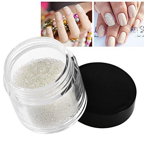 100g Mini Cristal Perles À Ongles Transparent Décoration Brillant Perles De Verre Manucure Accessoires