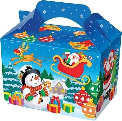 Dkbees ® 10 boîtes alimentaires Noël surprises en carton à repas pour enfant