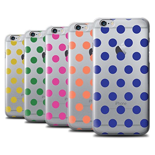 Stuff4 Hülle / Case für Apple iPhone 6 / Silber Muster / Dotty Punktmuster Kollektion Pack 10pcs