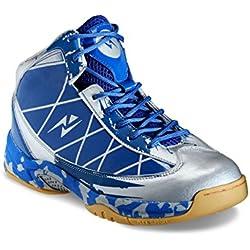 Yepme - Zapatillas de baloncesto de Material Sintético para hombre multicolor Azul y plateado, color multicolor, talla 42.5