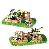 VIDOO Fai Da Te Modello Costruzione Giardino Realistico Mattoni Costruzione Edificio A Casa Spiaggia Giocattolo