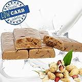 Proteinriegel HIGH PROTEIN 50% ✓✓ Eiweißriegel ERDNUSS Eiweiß Riegel 50 g (10 Stück) Protein bar peanut butter LOW CARB low fat ✓ WHEY Riegel peanutbutter crunch NUSS ** MADE IN GERMANY **