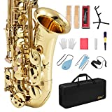 Eastar AS-â…¡ Student Alto Saxophone E Flat Gold Lacquer Saxophone Full Kit