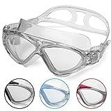 Gafas de Natación Profesional - Anti Niebla - Hermético - Ajustable - Gafas de Natación Para Adultos - Para Hombres, Mujeres, Niños Y Jóvenes de Mas de 10 Años (Gris)