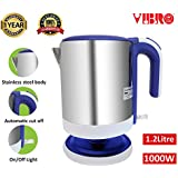 [Sponsored]Vibro Multi-Purpose Automatic Stainless Steel Electric Kettle For Home & Office,1.2 Litre Fancy Purple(1000W)