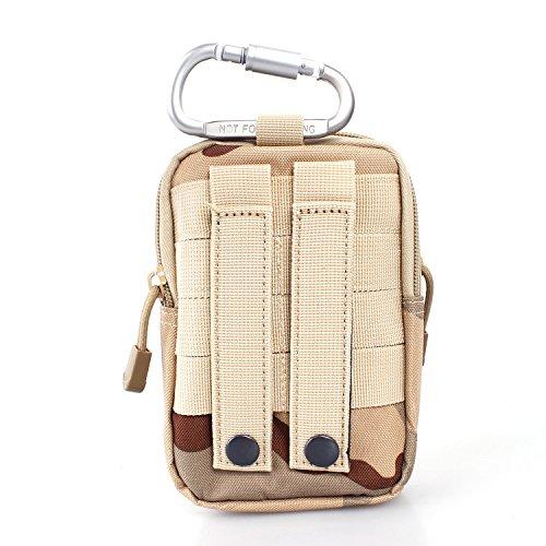 Unigear Taktische Hüfttaschen Molle Tasche Gürteltasche MOLLE Beutel Militär Ideal für Outdoorsport Multifunktionen Praktische Ausrüstung mit Extrafreiem Aluminiumkarabiner Tarnung