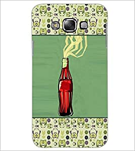 PrintDhaba Bottle D-4669 Back Case Cover for SAMSUNG GALAXY A7 (Multi-Coloured)