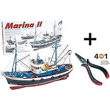 Artesania Latina 20506. Maqueta de barco en madera. Pesquero Marina ll. Escala 1/50 + Multiherramienta 4 en 1 40155/36054