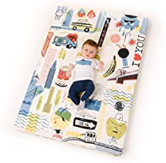 tappetto per bambini inbottita per cameretta crawl mat sfoderabili lavabili 130x90x5 cm Made in Spain
