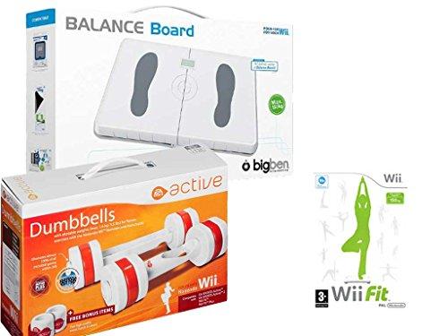 Wii - BigBen Balance Board mit EA Active Hanteln und dem Spiel ,Wii Fit´