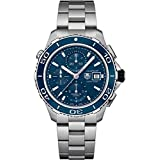 Tag Heuer Men's Steel Bracelet & Case Sapphire Crystal Automatic Blue Dial Watch CAK2112.BA0833