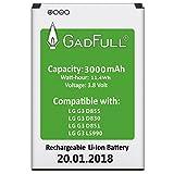 GadFull Batería para LG G3 | Fecha de fabricación del 2018 | Corresponde al original BL-53YH |...