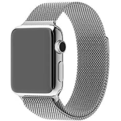 42 mm Apple Milanese Watch Stainless Steel Bracelet with Magnetic Clasp Watch Band Strap Genius Stainless Steel Outdoor Sports Edition No Buckle Basic Needs - In Silver Of OKCS
