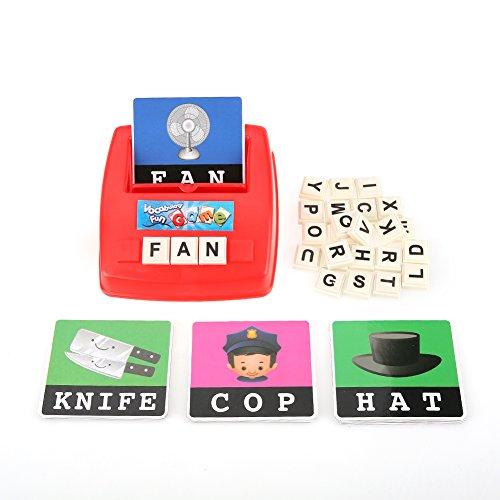 FTVOGUE Baby Kinder Kleinkind Kinder englische Schreibweise Alphabet Buchstaben Spiel Early Learning Lernspielzeug