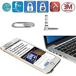 Mikrofonschloss Soundblocker Anti-Abhörgerät | Laptop Webcam Kamera Cover Schutz für iPhone Smartphone Laptop Tablet | Mic Blocker Sperren Sie Ihren Sound, Webcam Abdeckung Stoppt Webcam Spionage