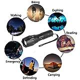 Vinteky® LED Taschenlampe dehnbar Camping Super Helle Flashlight Schwarz