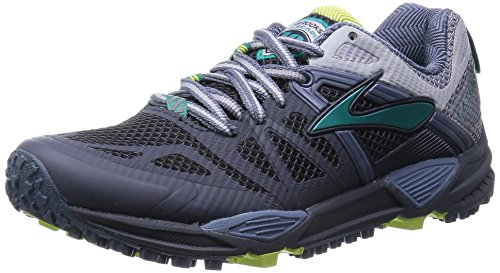 Brooks W Cascadia 10, Chaussures de Course Femme Ombre Blue/Sterling/Lapise