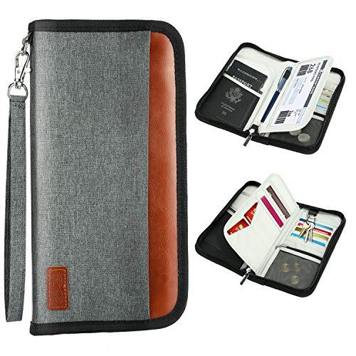 Reisepass Tasche, WisFox Tragbar Reisepass Inhabers &
