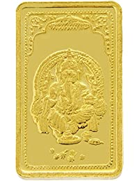 TBZ - The Original 15 gm, 24k(999) Yellow Gold Ganesh Precious Coin