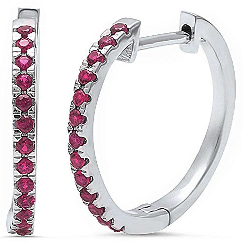 simulated-ruby-925-sterling-silver-hoop-earring-by-oxford-diamond-co