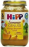 Hipp Sommer Genuss, Mango-Bananen-Grieß, 6er Pack (6 x 190g)