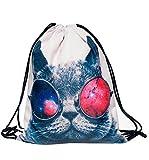 Bolsas de Gimnasia Mochila para la Escuela,los Deportes, Playa, Recorrido (Gato de la Galaxia)