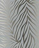 MT–Papel pintado de fieltro, color plata, 57265.