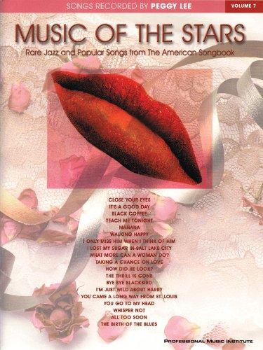 Peggy Lee-Musik der Sterne Volumen 7Piano/Vocal/Guitar Artist Songbook (Sterne-gitarren)