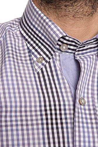 State of Art Herren Hemd Kurzarmhemd REGULAR FIT, Farbe: Dunkelrot Violett