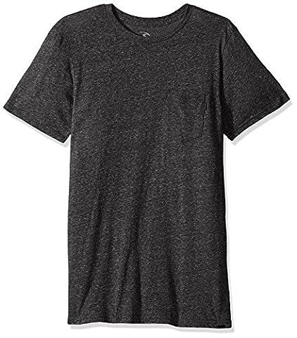Rip Curl Men's Core Tri Blend Pocket Tee, Black, Medium