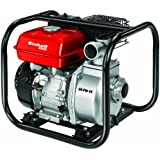 Einhell Pompe thermique GE-PW 45 (4.8 kW, Débit max. 23.000 l/h, Hauteur de refoulement 26 m, Livrée avec de nombreux adaptateur et 1 panier d'aspiration)