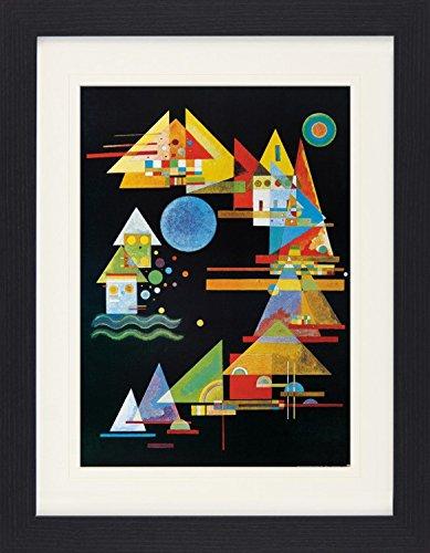 1art1 114018 Wassily Kandinsky - Spitzen Im Bogen, 1927 Gerahmtes Poster Für Fans Und Sammler 40 x 30 cm (Klassische Print Stärken)