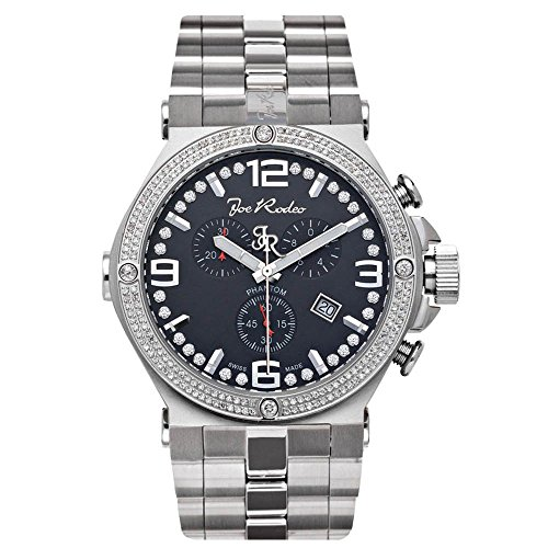 Joe Rodeo Diamond Men's Watch - PHANTOM silver 2.25 ctw